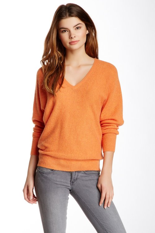 Cashmere Dolman Pullover Sweater by Minnie Rose in A Most Violent Year