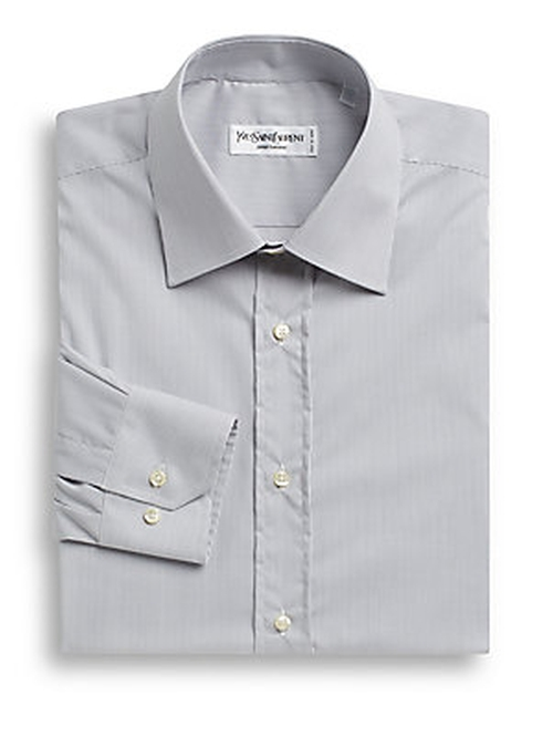Modern-Fit Cotton Dress Shirt by Yves Saint Laurent in The Hundred-Foot Journey