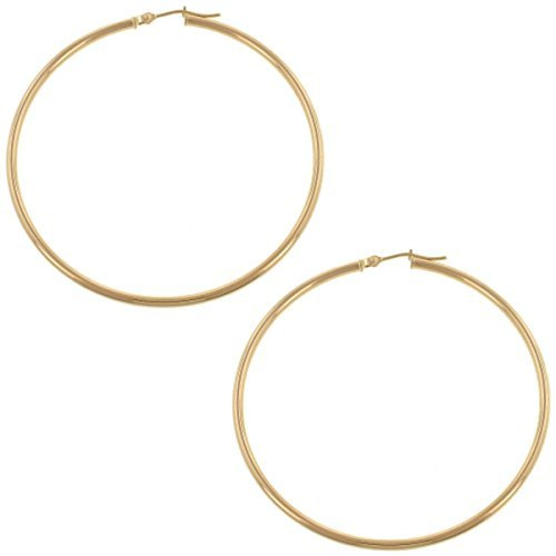 Polished Hoop Earrings by Solomon Brothers Fine Jewelry in Unfinished Business