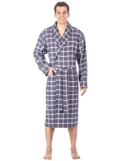 Cotton Flannel Robe by Noble Mount in The Big Bang Theory