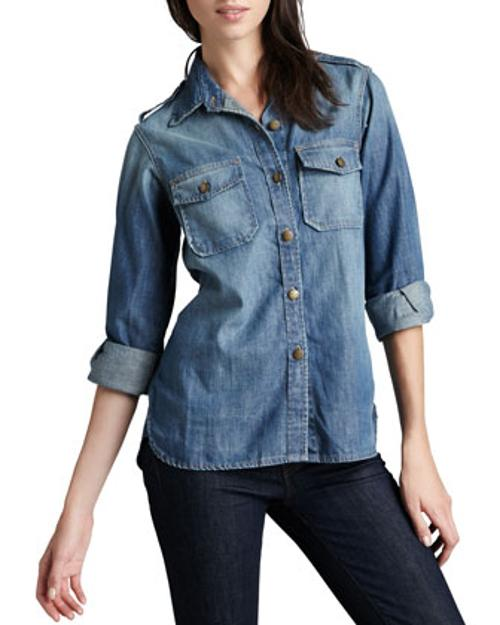 The Perfect Denim Shirt by Current/Elliott in About Last Night