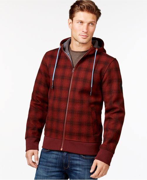 Plaid Full-Zip Hoodie Jacket by The North Face in Harry Potter and the Deathly Hallows: Part 2