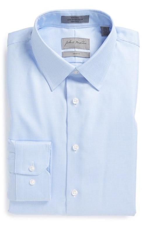 Trim Fit Non-Iron Solid Dress Shirt by John W. Nordstrom in Wish I Was Here