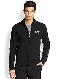 Piped Logo Track Jacket by EA7 Emporio Armani in Brick Mansions