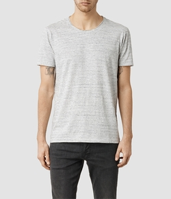 Figet Stripe Crew T-Shirt by All Saints in Modern Family