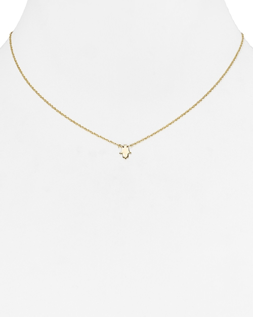 Faith Mini Hamsa Necklace by Jennifer Zeuner in We Are Your Friends