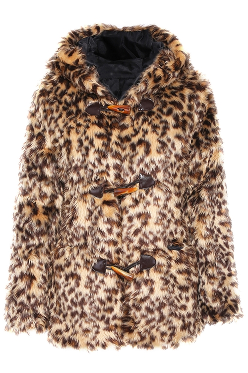 Leopard Print Buckled Hoodied Coat by Romwe in If I Stay