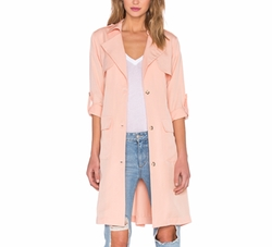 X Revolve Midnight Run Coat by Lovers + Friends in The Layover