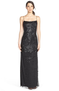 Sequin Slipdress by JS Collections in Fifty Shades of Black