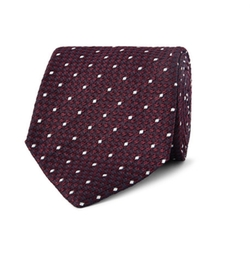 Dot Embroidered Silk Tie by Drake's in The Big Short