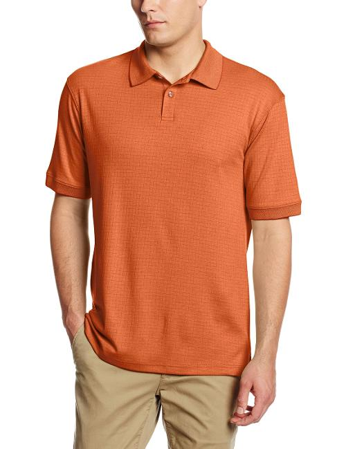 Men's Short Sleeve Mini Box Check Polo Shirt by Haggar in Project Almanac