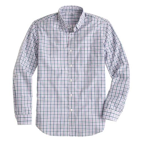 Lightweight Shirt in Estate Blue Check by J.Crew in And So It Goes