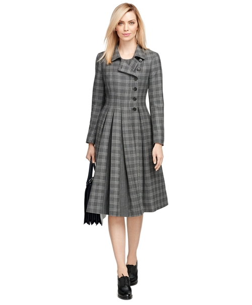 Wool Plaid Coat by Brooks Brothers in Scandal - Season 5 Episode 7
