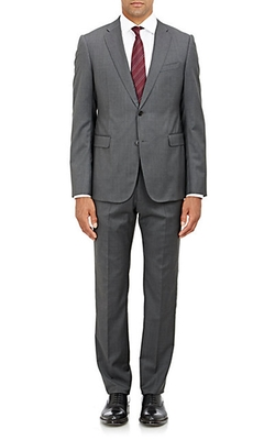 Twill Two-Button Metro Suit by Armani Collezioni in Scandal