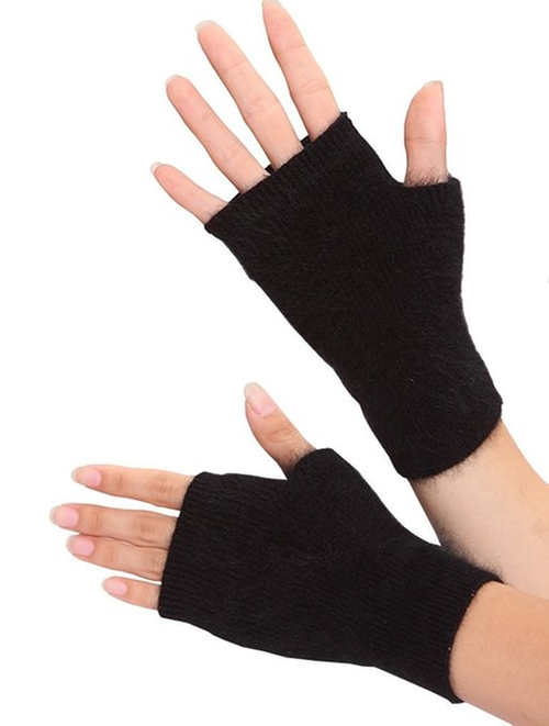 Cashmere Half Finger Gloves by Volyer in Rock The Kasbah