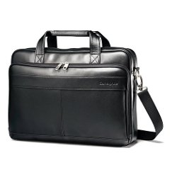 Luggage Leather Slim Briefcase by Samsonite in Unfinished Business