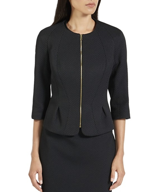 Roxi Honeycomb Jacquard Suit Jacket by Ted Baker in The Good Wife