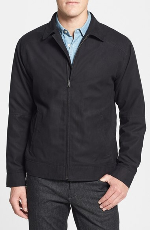 'Roosevelt' Regular Fit Water Resistant Full Zip Jacket by Cutter & Buck in Contraband
