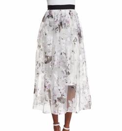 Floral-Print A-line Midi Skirt by Sachin & Babi Noir in Brooklyn