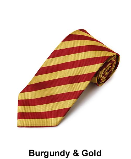 "Burgundy & Gold 1/2"" Stripe Ties by Absolute Ties in Kingsman: The Secret Service"