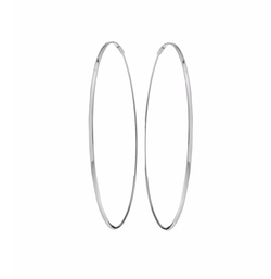 Large 14K Oval Magic Hoop Earrings by Lana in Empire