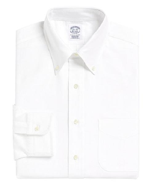 Slim Fit Button-Down Collar Dress Shirt by Brooks Brothers in Godzilla