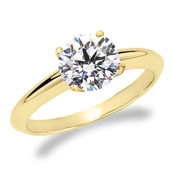 Round Cut Diamond Solitaire Engagement Ring by Houston Diamond District in Ride Along 2