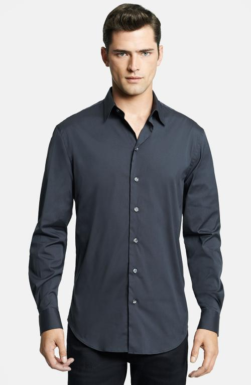 Modern Fit Stretch Sport Shirt by Armani Collezioni in A Walk Among The Tombstones
