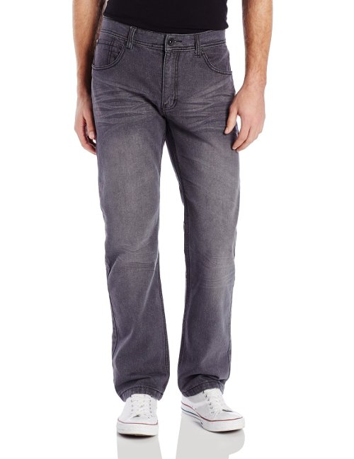 Straight Fit Premium Washed Denim Jeans by Southpole in Get Hard