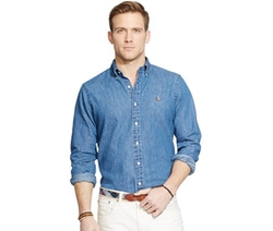Classic-Fit Denim Shirt by Polo Ralph Lauren in Miss You Already