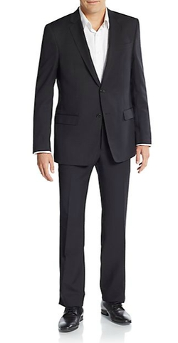 Regular-Fit Solid Wool Suit by Versace Collection in Elementary