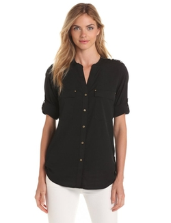 Crew Roll-Sleeve Shirt by Calvin Klein in Chelsea
