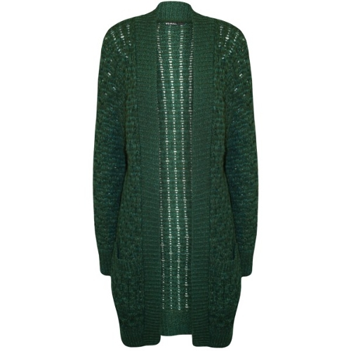 Lee Chunky Knitted Long Crochet Cardigan by Wearall.com in Sinister 2