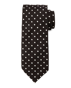 Mini-Dot Silk Tie by Tom Ford	 in Demolition