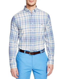Tucker Plaid Button Down Shirt by Vineyard Vines in Modern Family