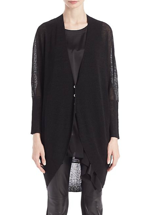 Long Cocoon Cardigan by Eileen Fisher in Keeping Up With The Kardashians - Season 11 Episode 11