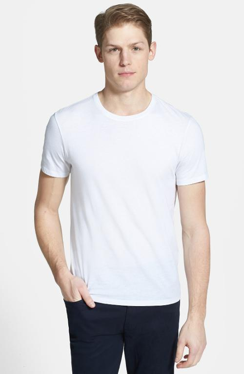Pima Cotton Crewneck T-Shirt by Vince in Fifty Shades of Grey