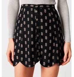 Scalloped Button-Front Mini Skirt by Cooperative in The Flash