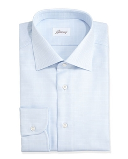 Glen Plaid Dress Shirt by Brioni in Suits