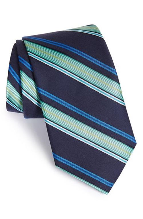 'Ground Stripe' Silk & Cotton Tie by Ted Baker London in Rosewood - Season 1 Episode 8