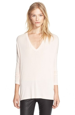 'Luxe' Long Sleeve V-Neck T-Shirt by Vince in Modern Family