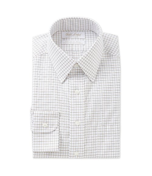 Fitted Point-Collar Dress Shirt by Gold Label Roundtree & Yorke in While We're Young