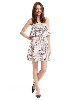 Busy Geo Print Popover Dress by Cece by Cynthia Steffe in Paper Towns