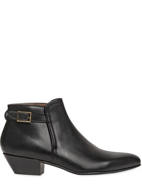Smooth Leather Ankle Boots by Louis Leeman in Empire