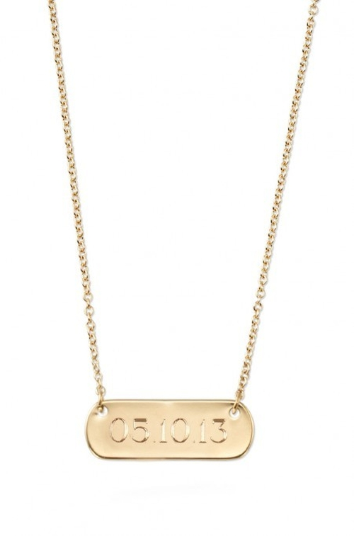 Signature Engravable Bar Necklace by Stella & Dot in Pretty Little Liars - Season 6 Episode 10