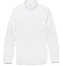 Isherwood Button-Down Collar Cotton-Poplin Shirt by Acne Studios in Life
