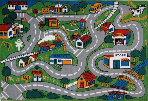 Country Fun Kids Road Rug by Fun Rugs in Unfriended
