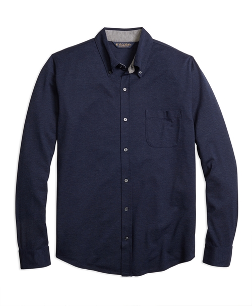 Button-Down Knit Shirt by Brooks Brothers in Mad Dogs -  Looks