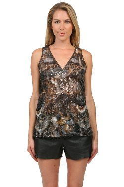 Preston Sequin Tank Blouse In Taupe by Adasa in Fast & Furious 6