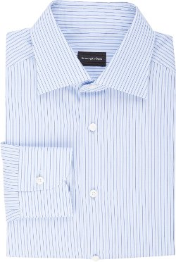 Fine-Line-Stripe Dress Shirt by Ermenegildo Zegna in Crazy, Stupid, Love.